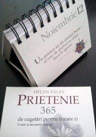 """CALENDARUL """"365 DE ZILE PRIETENIE"""""""